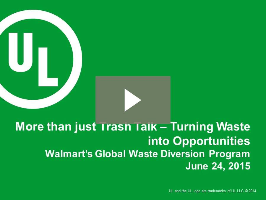 """Webinar: """"More than Just Trash Talk: Turning Waste into Opportunities"""""""