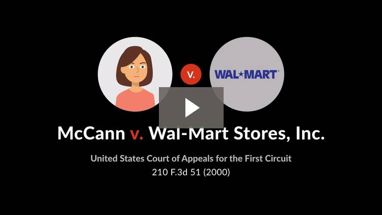 McCann v. Wal-Mart Stores, Inc.