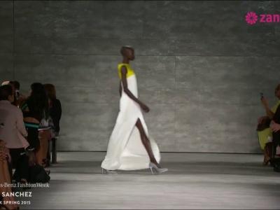 Ángel Sánchez: Vestidos de fiesta inspirados en las líneas rectas de la arquitectura