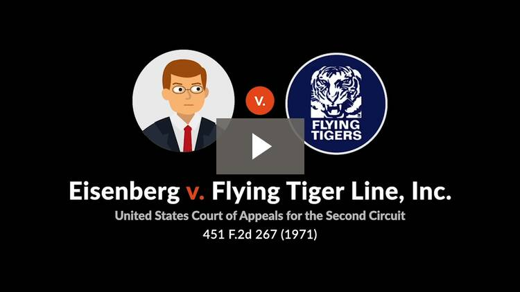 Eisenberg v. Flying Tiger Line, Inc.