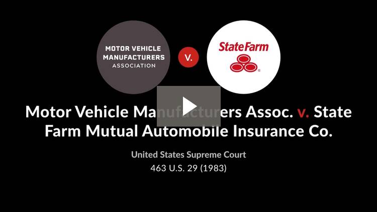 Motor Vehicle Manufacturers' Association v. State Farm Mutual Automobile Insurance Co.