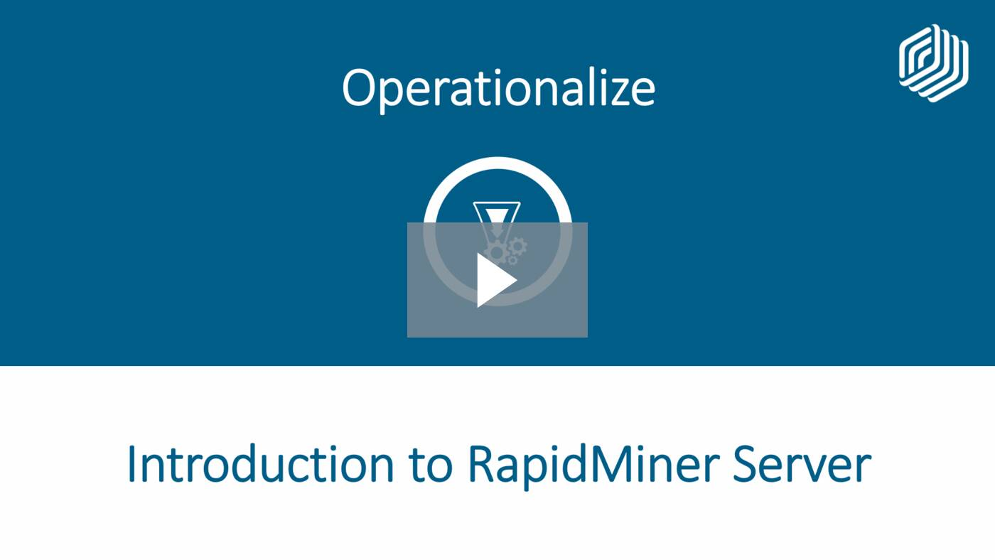 Introduction to RapidMiner Server