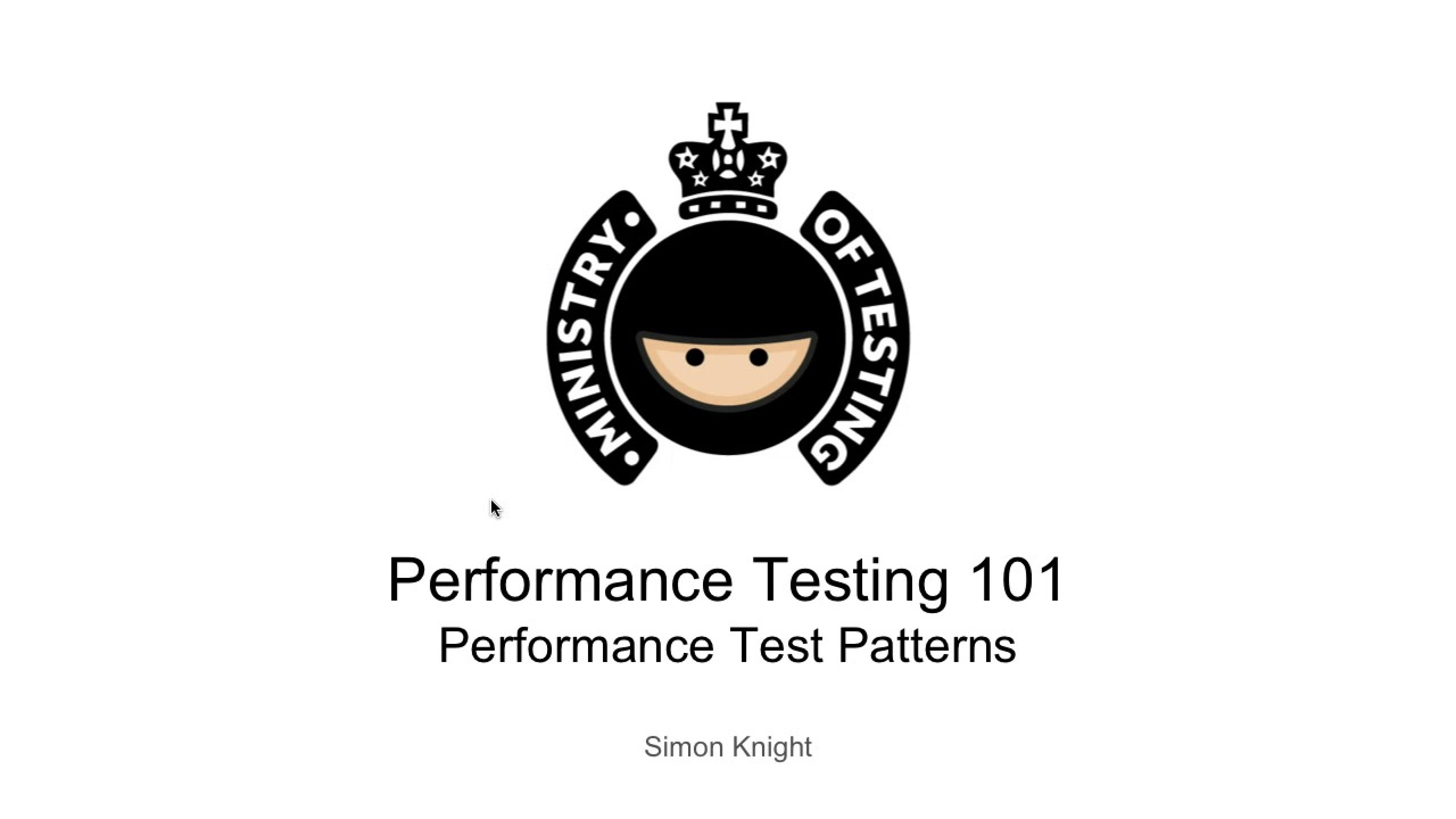 Variations on a Theme - Performance Testing Patterns