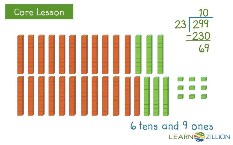 divide with twodigit divisors using base ten blocks  learnzillion