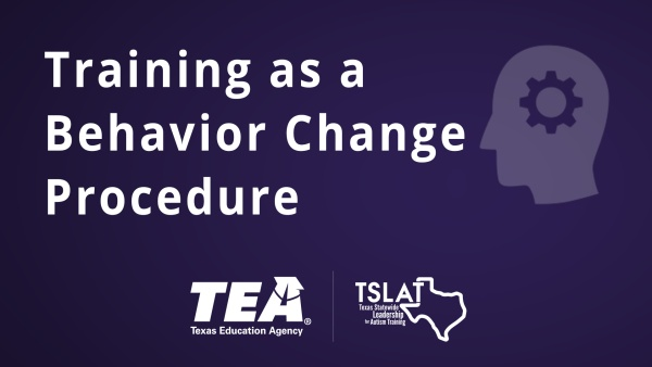 Training as a Behavior Change Procedure
