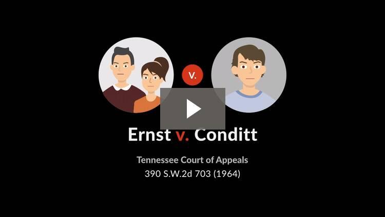 Ernst v. Conditt