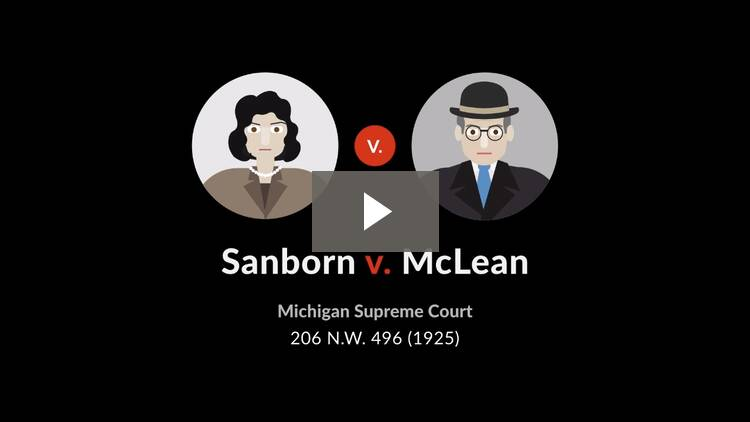 Sanborn v. McLean