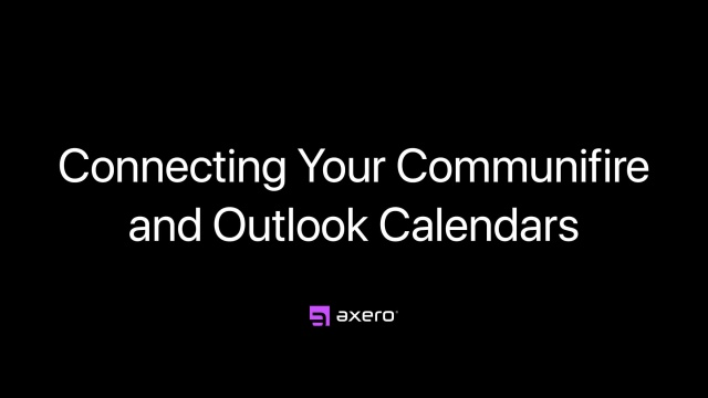 Connecting Your Communifire and Outlook Calendars