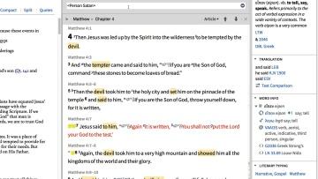 See where Jesus and Satan interact through Scripture