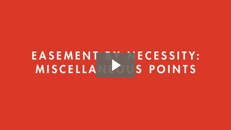 Creation of Easements II
