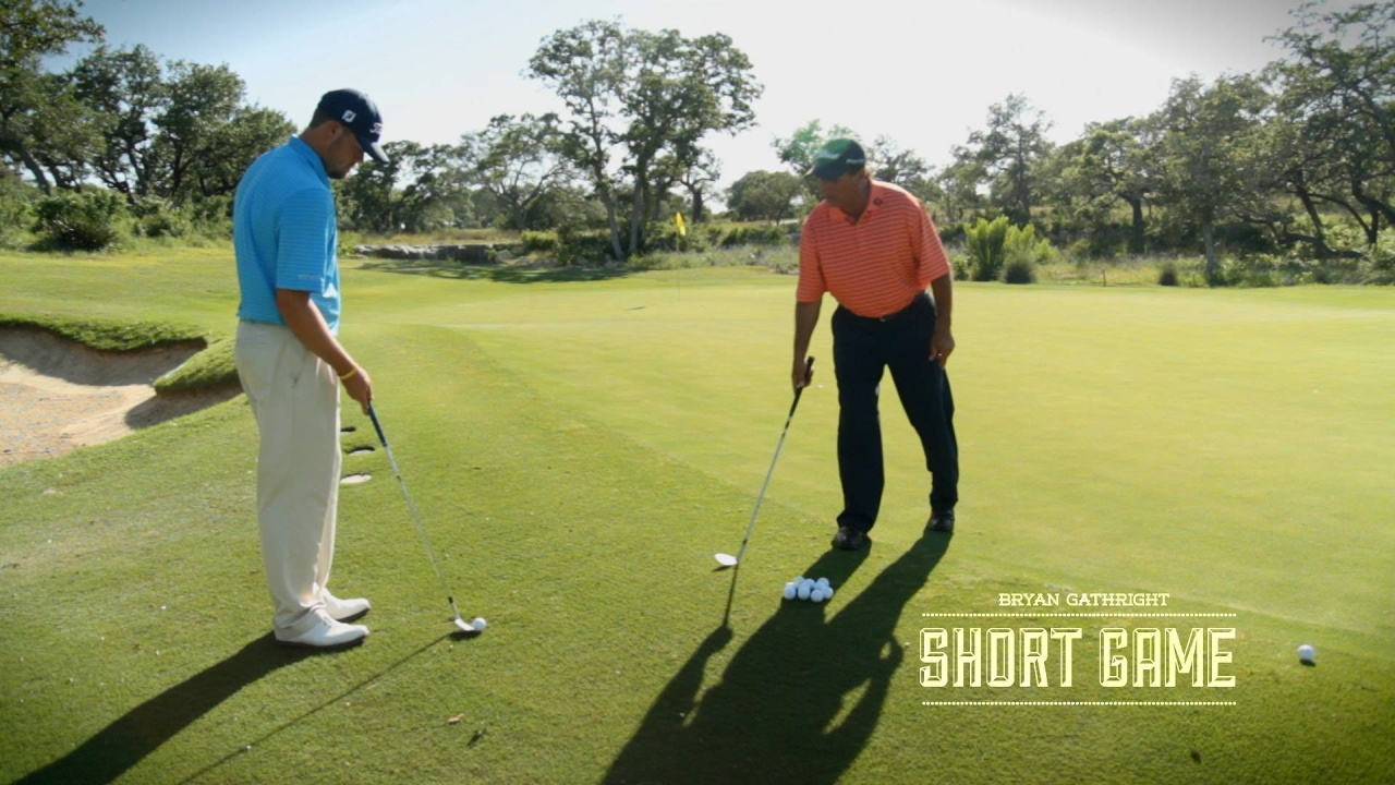 Short Game: Mid-Range Wedge Shot from Uphill Lie