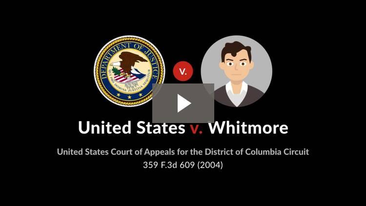 United States v. Whitmore