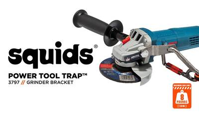 How to Safely Tether Your Grinder Using Squids® Power Tool Brackets