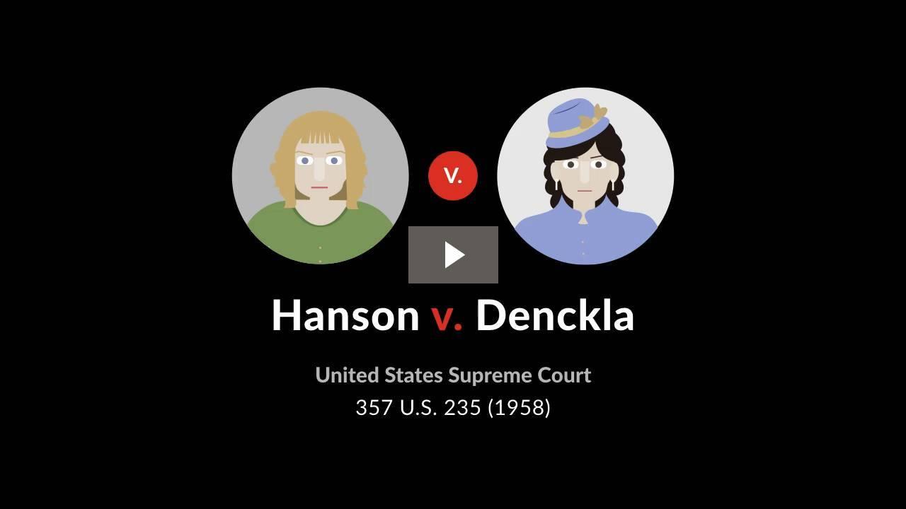 Hanson v. Denckla