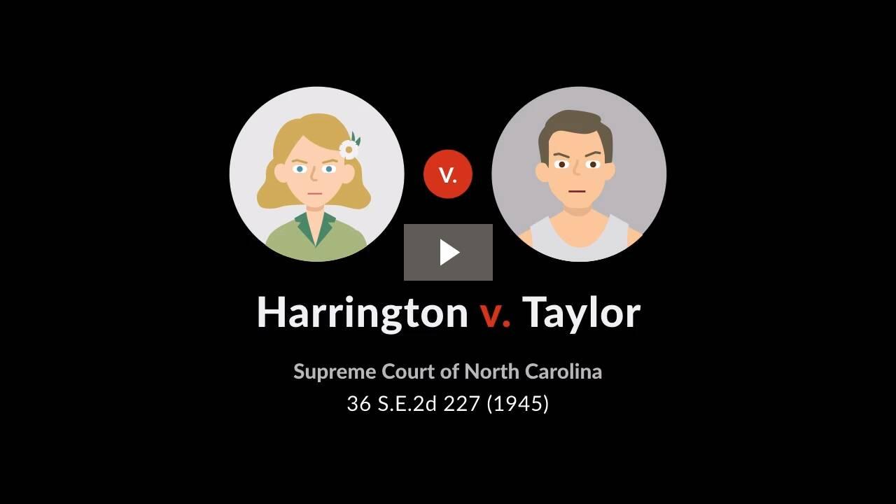 Harrington v. Taylor