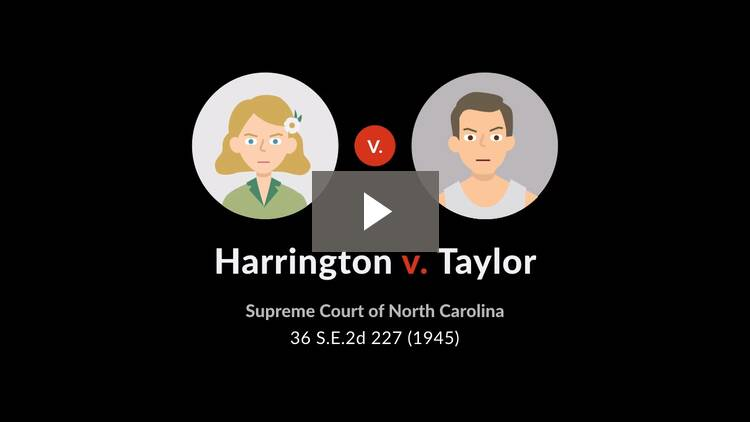 Harrington v. Taylor