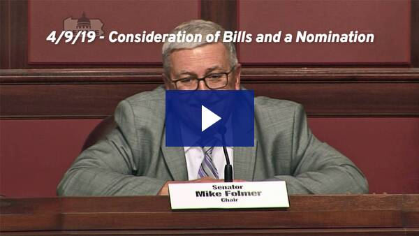 4/9/19 – Consideration of Bills and a Nomination