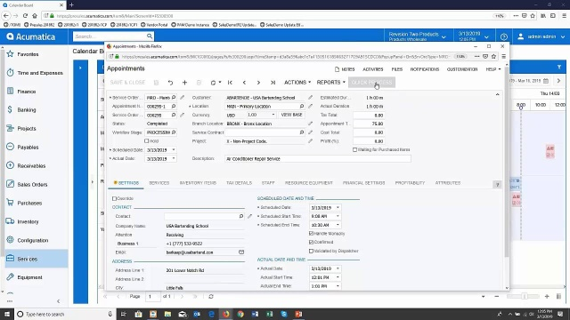 One click invoicing (2019 R1)
