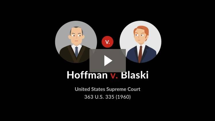 Hoffman v. Blaski