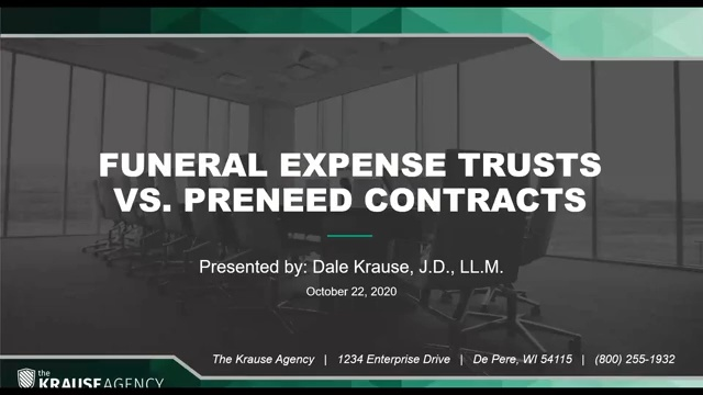 Funeral Expense Trusts vs. Pre-Need Contracts