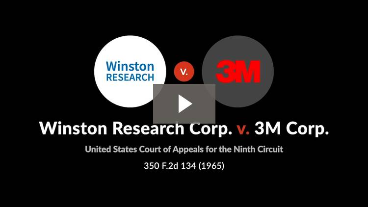 Winston Research Corp. v. 3M Corp.