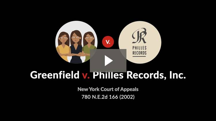 Greenfield v. Philles Records, Inc.