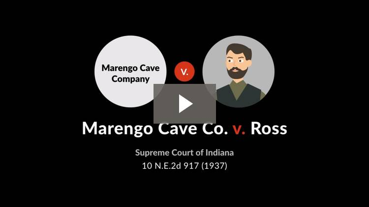 Marengo Cave Co. v. Ross