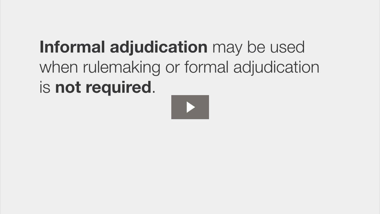 Types of Adjudication
