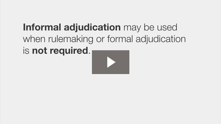 Types of Adjudication
