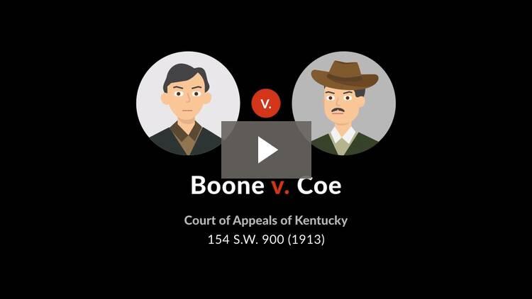 Boone v. Coe