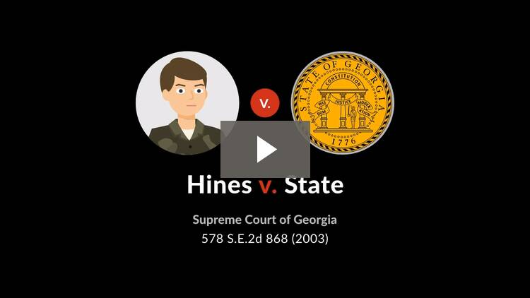 Hines v. State