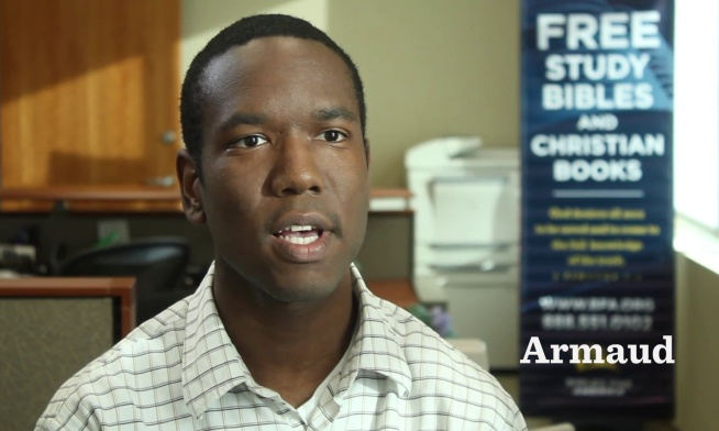 From Bible Recipient to BfA Intern—Armaud's Story