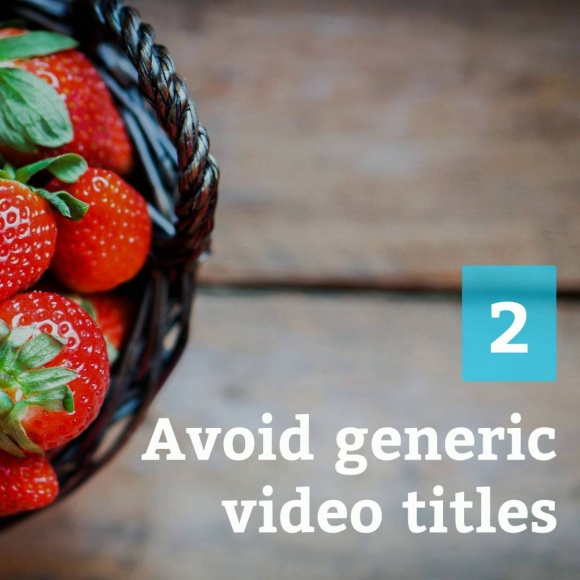 5 Tips to Improve Video Titles
