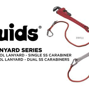 Ergodyne Product Video - Squids<sup>®</sup> 3101F(x) Tool Lanyard - Stainless-Steel Carabiner + Loop - 15lbs / 6.8kg
