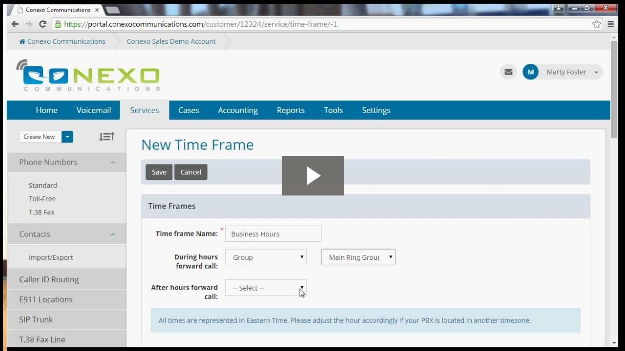 Time Frame Demo