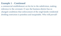 Termination of Real Covenants and Equitable Servitudes thumbnail