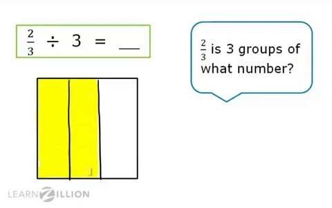 Lesson 7 divide with fractions ready common core divide fractions by whole numbers using models ccuart Gallery