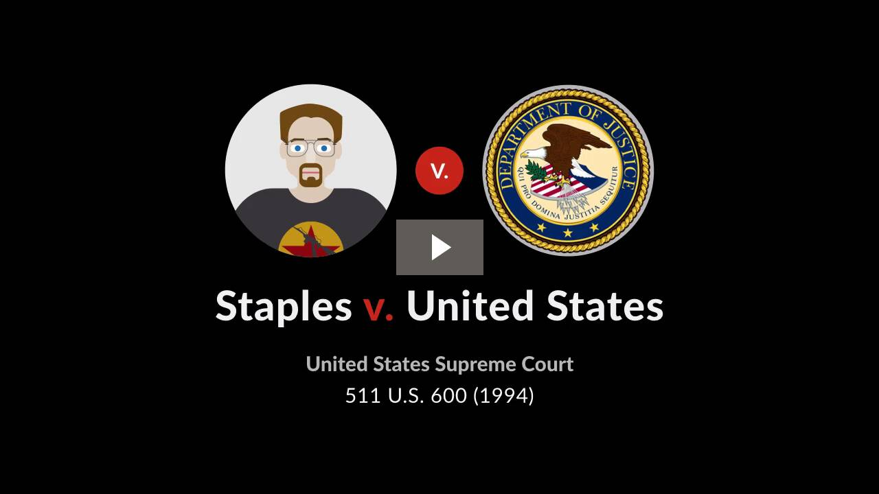 Staples v. United States