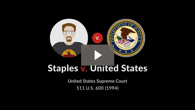 Staples v. United States