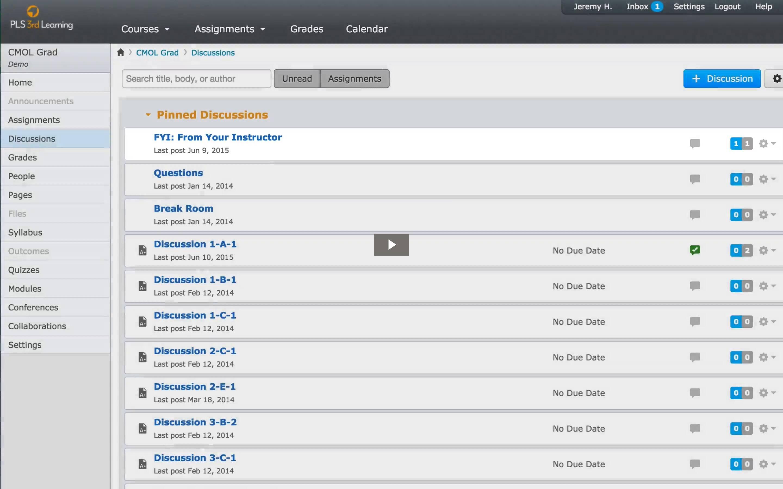 Online Class Walkthrough Video