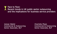Still image from 'Recent trends in UK public sector outsourcing' video