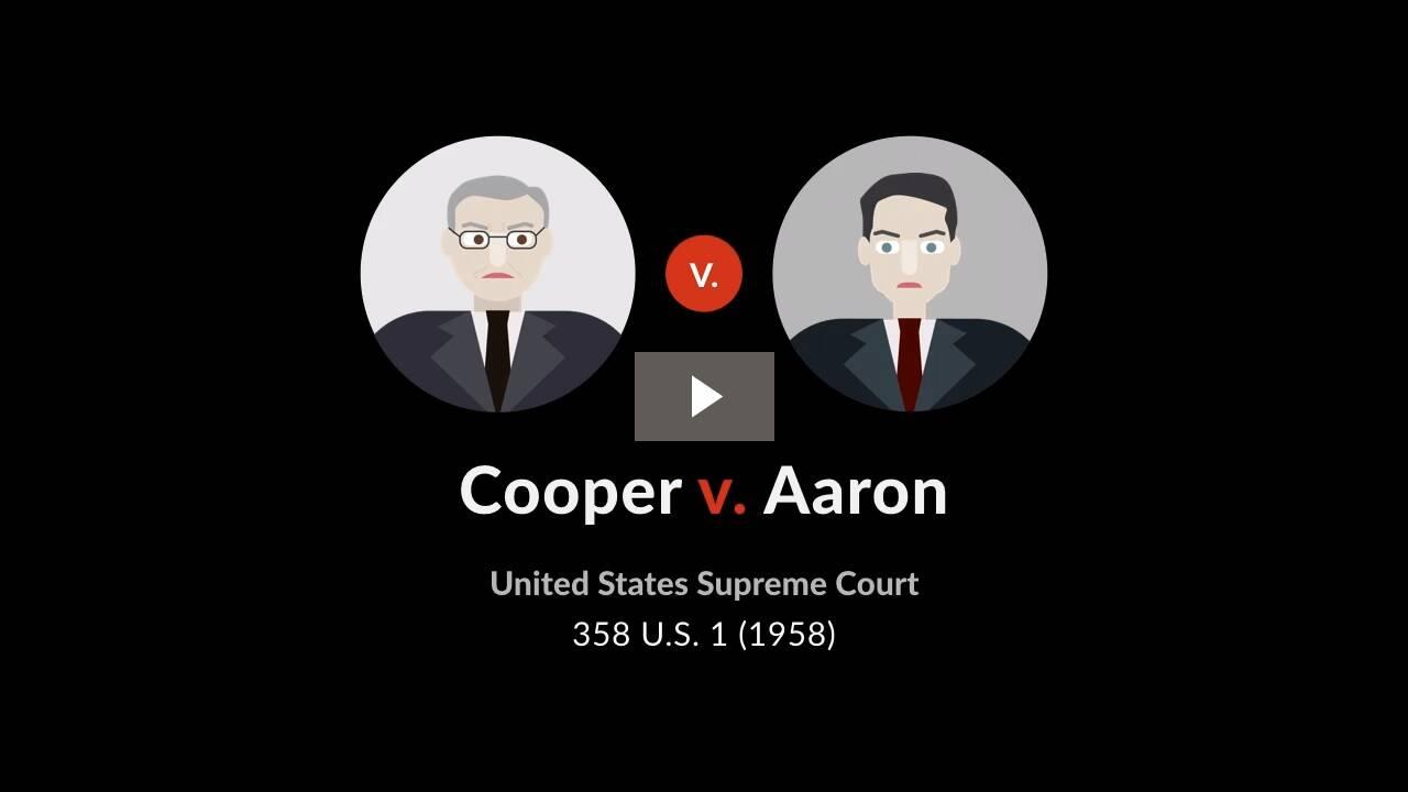 Cooper v. Aaron