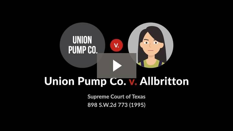 Union Pump Co. v. Allbritton