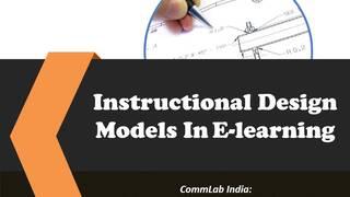 Instructional Design Models In E-learning
