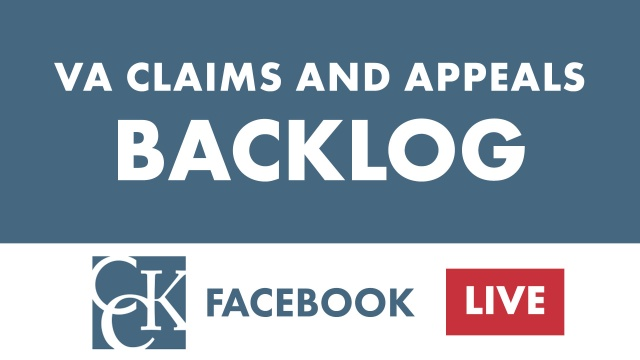 VA Claims and Appeals Backlog (Dec. 2018 Update)