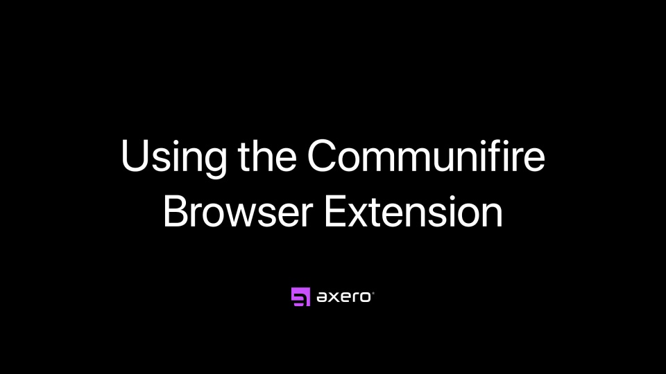 Using the Communifire Browser Extension