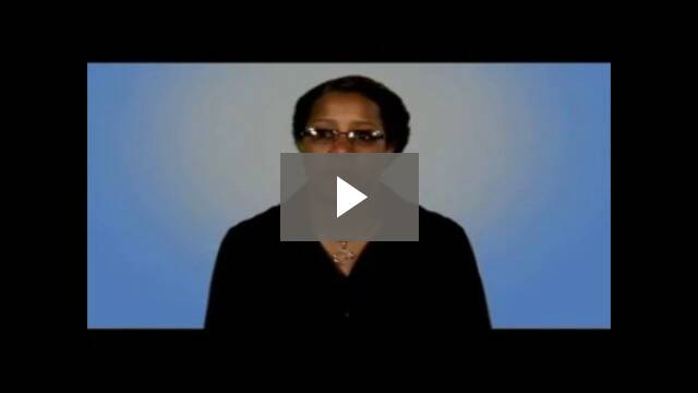 Video play button - woman talking
