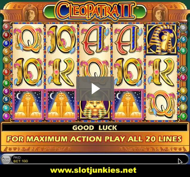 Play IGT Cleopatra II Here - Demo Mode Only!