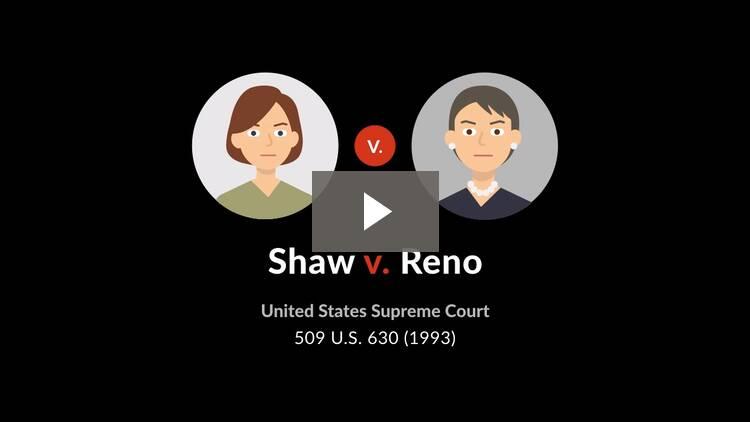 Shaw v. Reno