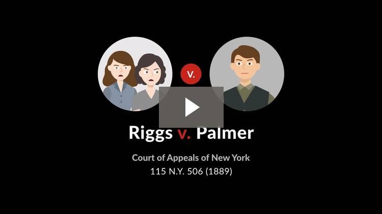 Riggs v. Palmer